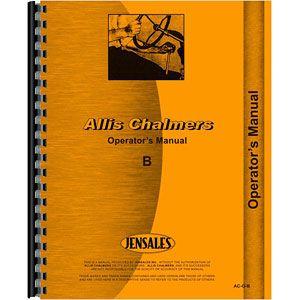 Operators Manual Allis Chalmers Model B