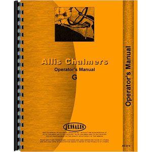 Operators Manual - Allis Chalmers Model G