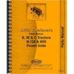 Parts Manual (Allis Chalmers B, IB, C, B125)