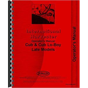 Operators Manual (International/Farmall Cub 1960-1972)