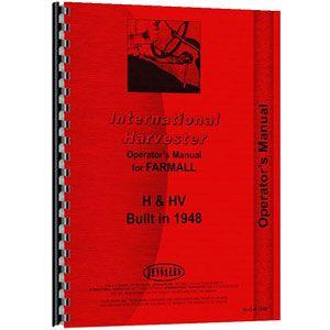 Operators Manual (International/Farmall H and HV Tractor)