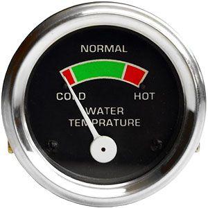 Water Temperature Gauge for Allis Chalmers, David Brown, Massey Ferguson, Minneapolis Moline Tractors and More