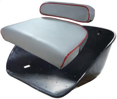 Metal Seat Pan With Gray Cushions for MH50, Massey Ferguson TO35, 135 and More