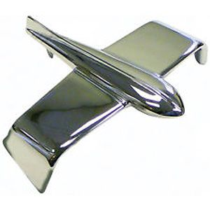 Chrome Front Emblem (Airplane / Bird) for Massey Ferguson 50, 85, 95 and More