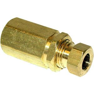"""Oil Gauge Fitting - 1/8"""" to 1/4"""" - for Allis Chalmers, Case, Ford, John Deere Tractors and More"""