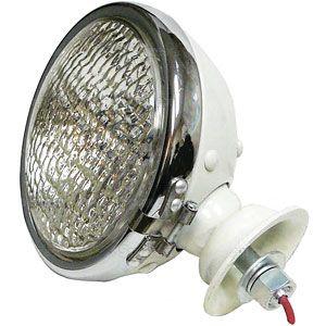 Head Light Assembly - 12 Volt (Chrome Ring)