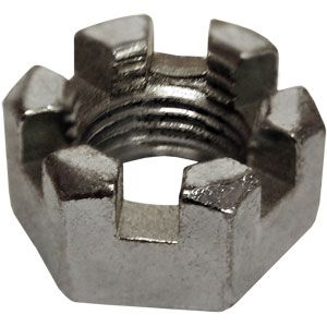 """1/2"""" Slotted Nut for Ford Models NAA, 700, 840, Golden Jubilee and More"""