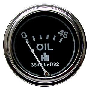 45 PSI Oil Pressure Gauge for International/Farmall Models Cub, Cub LoBoy, Cub 154 LoBoy, Cub 184 LoBoy and Cub 185 LoBoy