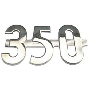 """350"" Side Emblem for International/Farmall Model 350"