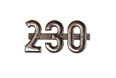 """230"" Side Emblem for International/Farmall Model 230"
