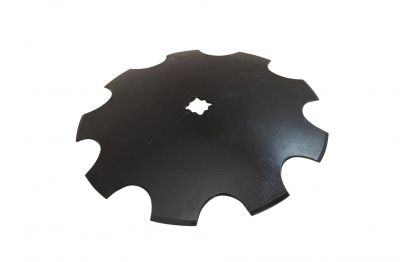 "Notched Disc Blade - 16"" for 1"" or 1-1/8"" Square axle"