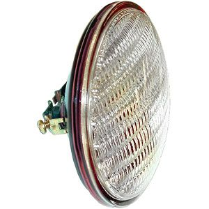 12 Volt Sealed Beam Combination Rear Light w/ Transparent Red Background