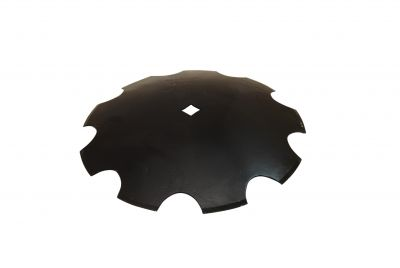 "Notched Disc Blade - 18"" with 1"" Square Hole"