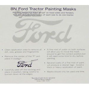 Ford Script Painting Mask - Model 8N