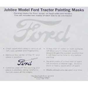 Ford Script Painting Mask for Fenders and Hood