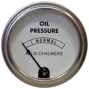 0-30 PSI Oil Pressure Gauge for Allis Chalmers B, WD & More