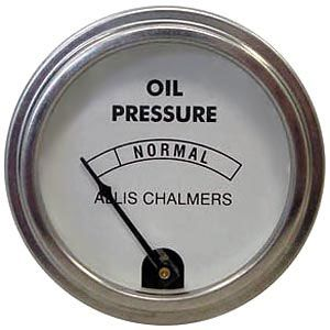 Oil Pressure Gauge (0-80 PSI) for Allis Chalmers D15, U, WD45 and More