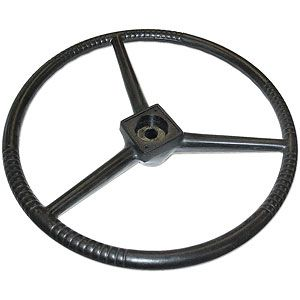 Black Steering Wheel for Allis Chalmers C, D Series and I600 Industrial