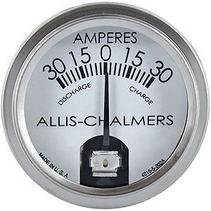 Ammeter Gauge (30-0-30) for Allis Chalmers CA, D19, G and More