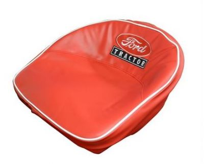 """Red Seat Cushion with White """"Ford"""" Script & """"Tractor"""" in Black for Ford (1939-1964) Models 9N, 2N, 501 and More"""
