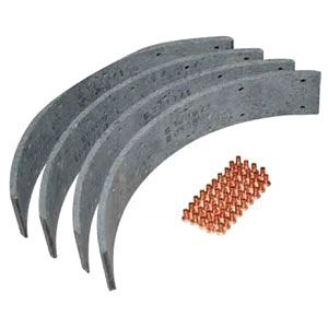 Brake Shoe Lining Kit With Rivets