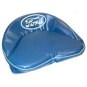 """Blue Seat Cushion with White """"Ford"""" Script for Ford (1939-1964) Models 9N, 2N, NAA, Golden Jubilee and More"""