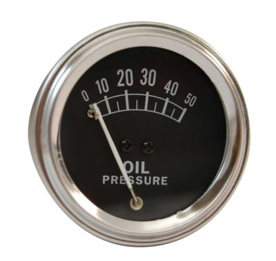 Oil Pressure Gauge - 0-50 PSI - for Allis Chalmers, Case, Ford, John Deere, Massey Ferguson and More