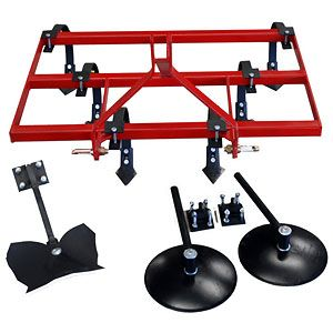 "Garden Package 48"" - Spring Tine Cultivator with 14"" Disc Hillers & Buster"