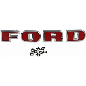Ford Grill Letters for Ford Models 2000 (3 and 4 Cyl), 3000, 4000 (3 and 4 Cyl) and 5000