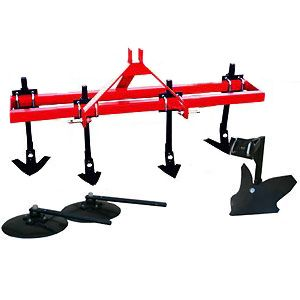 "Garden Package - Heavy Duty  4 Shank Cultivator with 16"" Disc Hillers & Buster"