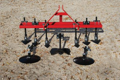 "Garden Package - 6 Shank Cultivator with 14"" Disc Hillers & Buster"