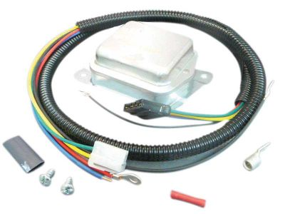 2 Terminal Voltage Regulator & Harness Kit for Allis Chalmers, Bolens, Kubota Tractors and More