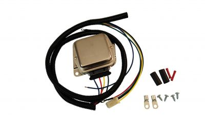 3 Terminal Voltage Regulator & Harness Kit for Allis Chalmers, Bolens, Case/IH, Kubota Compact Tractors and More