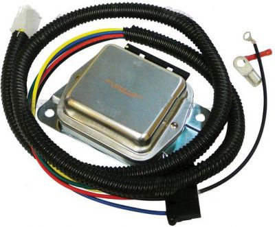 4 Terminal Voltage Regulator & Harness Kit for Allis Chalmers, Bolens, John Deere Compact Tractors and More
