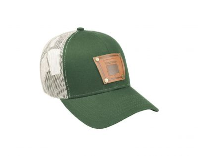 Keystone Oliver Leather Green Mesh Emblem Hat
