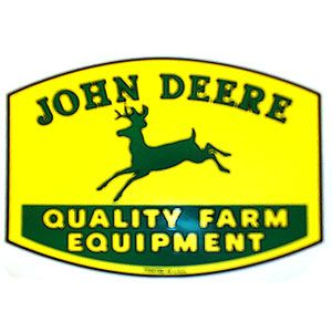 3 x 4 Decal John Deere Quality Farm Equipment