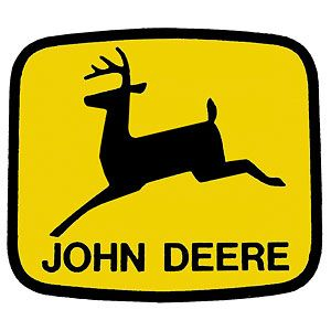 2 x 3 Decal John Deere Leaping Deer