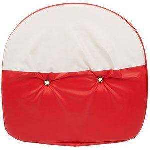 """19"""" Pan Padded Seat Cushion (Red/White)"""