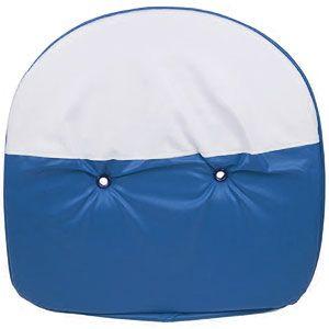 """19"""" Pan Padded Seat Cushion (Blue / White)"""