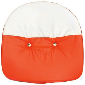 "21"" Padded Tractor Seat (Orange / White)"