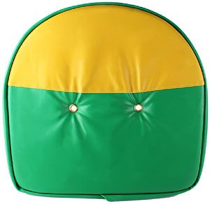 "21"" Padded Tractor Seat (Green / Yellow) for John Deere Tractors"