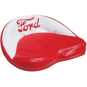 """Red & White Seat Cushion with """"Ford"""" Script for Ford (1939-1964) Models 9N, 2N, NAA and More"""