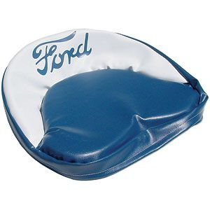 """Blue & White Seat Cushion with """"Ford"""" Script for Ford (1939-1964) Models 9N, 2N, NAA, 600 and More"""