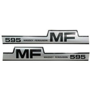 Hood Decal Set for Massey Ferguson Model 595