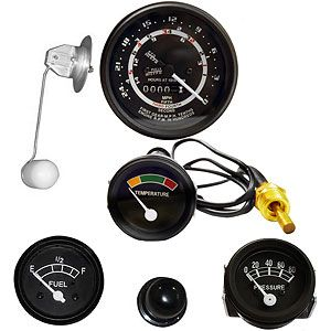 Instrument Panel Gauge Kit (12 Volt, 5 Speed) for Ford (1939-1964) 601, 701 and 2000 - 4 Cylinder