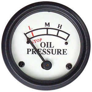 0-25 PSI Engine Mounted Oil Pressure Gauge for John Deere Model A, D, MT and More