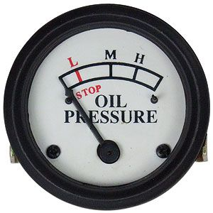 0-25 PSI Dash Mounted Oil Pressure Gauge for John Deere B, A, D, H and More