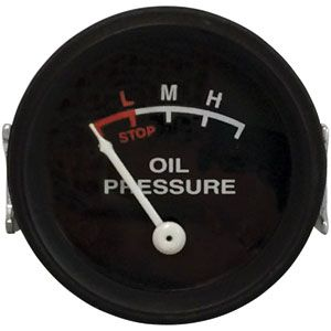 0-25 PSI Dash Mounted Oil Pressure Gauge for John Deere B, G, 430, 530 and More