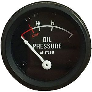 0-55 PSI Dash Mounted Oil Pressure Gauge for John Deere 70, 720, 80 and More