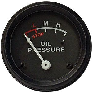 0-30 PSI Engine Mounted Oil Pressure Gauge for John Deere M, 320, 420 and More